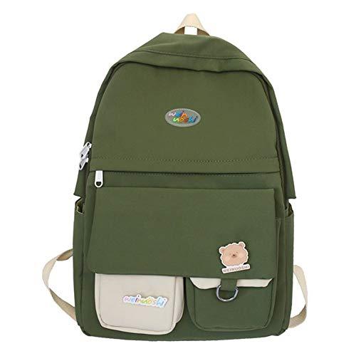 REGEN Backpack Computer Backpack Casual Day Backpack Women's School Bag, School Casual Day Rucksack Suitable for School, Travel, Work/Green