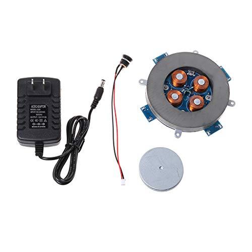 Wondiwe Magnetic Levitation Machine Core DIY Kit Magnetic Levitation Module with LED Lamp