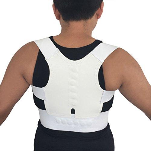 ECYC® Thoracic Back Brace Correcteur de Support de Posture magnétique pour l'épaule au Cou Haut de la traînée