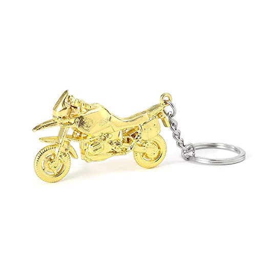 LINGNING Fashion Motorcycle Car Keychain Alloy Key Ring Accessories (Color : W)