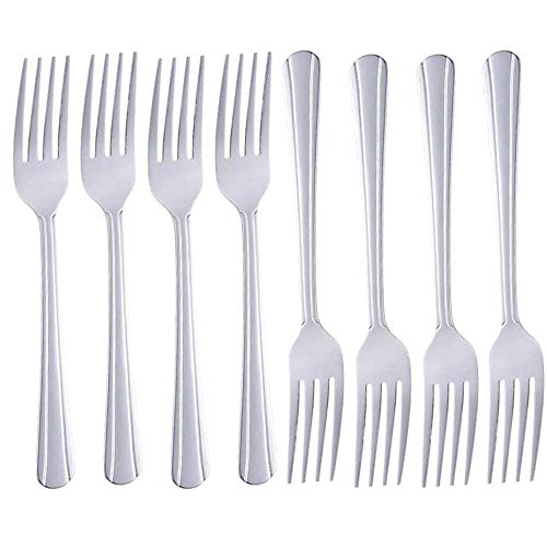 Dinner Forks Set of 8,Dominion Heavy Duty Forks,Stainless Steel Silverware Table Forks Mirror Polished Forks for Kitchen, Matching Spoons or Knifes, Commercial Restaurant Easy to Clean, 7 inches