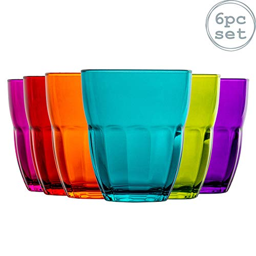 Ercole - Trinkgläser - Farbig - 230 ml - Mehrfarbig - 6 Stück