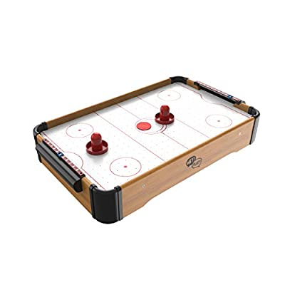 Mini Tabletop Pool Set- Billiards Game Includes Game Balls, Sticks, Chalk, Brush and Triangle-Portable and Fun for The Whole Family by Hey! Play! from