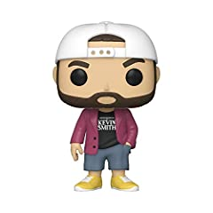 "From Funko, Kevin Smith joins the directors series as a Pop! vinyl figure! This Collector features Kevin in his signature purple jacket, yellow shoes, shorts, and the ""Written and Directed by Kevin Smith"" T-shirt Collectible stands 3.75 inches tall a..."