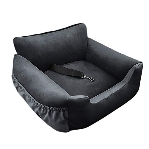 wenyujh 2-in-1 Autositz Bett für Hunde Hundesitz Hundebett wasserfest rutschfest Autokörbchen Hundedecke Hundekorb Sitzerhöhung für Rückbank (58 * 52 * 27, AA-Schwarz)