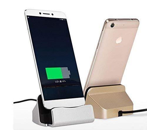 Theoutlettablet® Base de Carga para Apple iPhone X XR XS MAX Pro 11 10 8 7 6s 6 Plus 5s 5 SE iPod Touch (Plata)