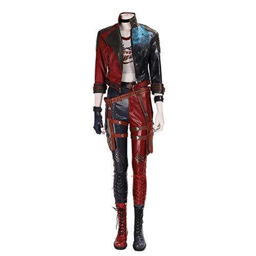 Pelotón Del Suicidio: Mata Al Liga De La Justicia Halloween Juego Traje De Cosplay Harley Quinn Harleen Quinzel Personalizados Trajes Completos Red-M
