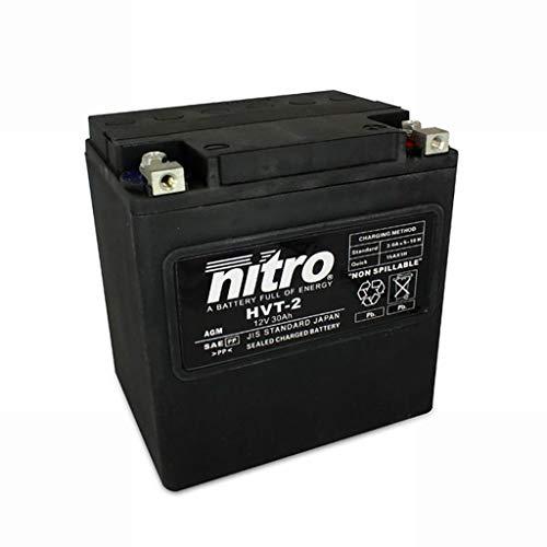Batería 12V 30AH HVT 02 Gel Nitro FLHTCI ESPFI EGlide CL 97-98 🔥