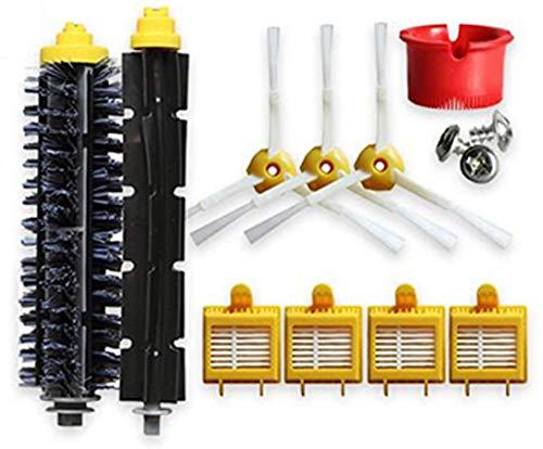 YAJIWU Kit de accesorios de repuesto para iRobot Roomba 700 Series 760 770 780 790 Robot aspiradora 12 filtros 12 cepillos laterales 12 tornillos (color: estilo a)