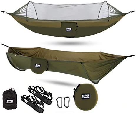 Fox Outfitters Mosquito Net Hammock XL Built in Mosquito Net Bug Protection Easy Set Up Comes product image