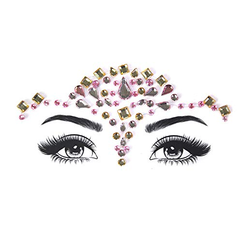 Exquisita cara frente palo palo taladro etapa arte rendimiento fiesta maquillaje joyería