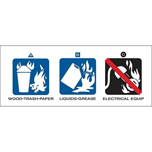 Brady AFFF Aqueous Film Forming Foam Fire Extinguisher Labels, 2