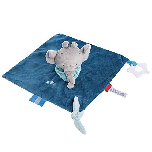 El bebé calienta la toalla, el bebé aplaca la toalla Peluche de peluche Animal de peluche Perro de peluche blando reconfortante para niños de 0 a 36 meses(Elefante)