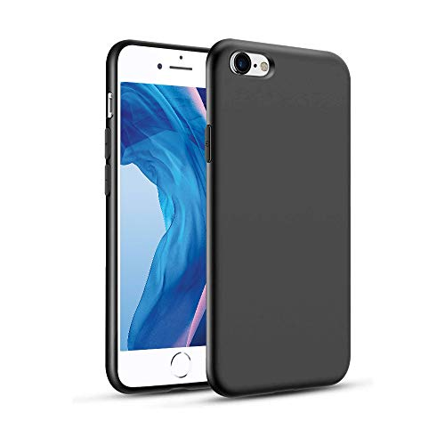 Agedate Funda para iPhone 6/6s, Ultra Fina Suave TPU Gel Carcasa, Anti-Choques, Anti-Arañazos, Protección a Bordes y Cámara, Case para iPhone 6/6s - Negro