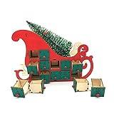 Bfrdollf Ornamento del árbol de Luz Casa de Madera Trineo de Adviento Calendario de Cuenta atrás...