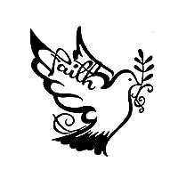 車のステッカー 花と鳥のステッカーハト車のステッカーハトボディステッカー BJRHFN (Color : Black)
