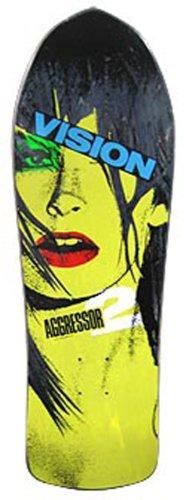 Vision Aggressor 2Neuauflage Skateboard Deck 26x 77,5cm, BD0V30-black, Schwarz, 10.25 x 30.5-Inch