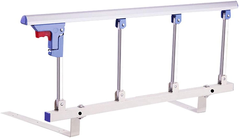 DNSJB Foldable Bed Rail Safety Side Guard, Metal Handle Handicap Bed Railing Hospital Grip Bumper Bar (Size   95CM)