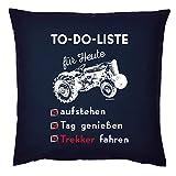 Bauer/Landwirt/Traktor Deko-Kissen - Sprüche Geschenk-Kissen Landwirtschaft : to-Do-Liste für...