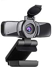 LarmTek HD Webcam 1080p met Privacy Shutter,Webcam PC Laptop Camera met Microfoon,Breedbeeld Video Bellen en Opname Ondersteuning voor Conferentie, W3, UK