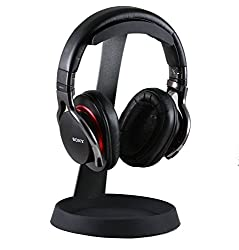 Stand formed from high grade steel for a steady and reliable support. Headphones rest comfortably on a soft silicon holder. Iincludes a cable tidy pad for the cables to rest on. Base diameter - 15cm, Stand height - 25cm, Holder width - 4cm Features a...