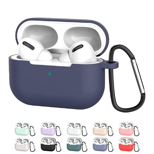SOVICO - Funda Airpods Pro - Funda de Silicón para Audífonos Airpods Pro (Azul Obscuro)