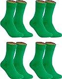 gigando – Socken Herren Baumwolle Uni Farben 4er oder 8er Pack in Premiumqualität – bunt farbige Strümpfe für Anzug, Business, Freizeit – ohne Naht - in grün Größe 39-42