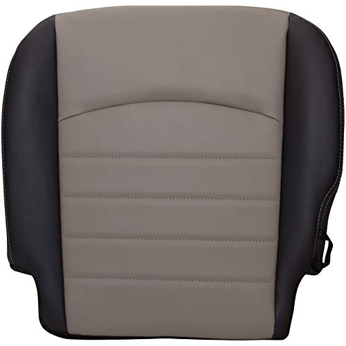 The Seat Shop Driver Bottom Replacement Vinyl Seat Cover - Two Tone (Compatible with 2009-2012 Dodge Ram ST Work Truck 1500, and 2010-2012 Dodge Ram ST Work Truck 2500/3500)