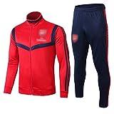 BVNGH Arsenal International City - Traje de entrenamiento para hombre, manga larga, diseño de camiseta de fútbol de la ciudad de 2021, tallas S-XXL), color rojo y XXL