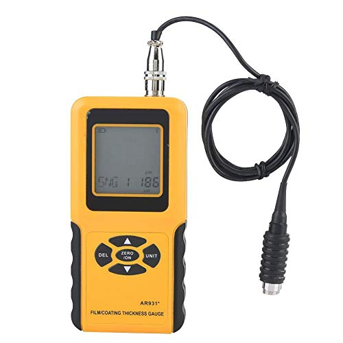 ZJN-JN Haute précision Revêtement Calibres d'épaisseur AR931 revêtement numérique Jauge d'épaisseur testeur Plage de mesure 0~1800um Indicateurs de mesure