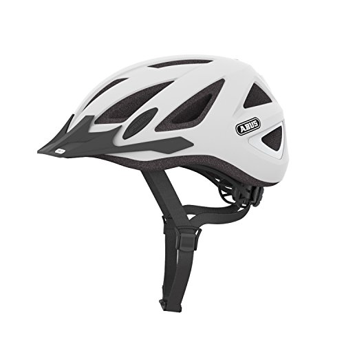 Abus - Casco da bici Allround City Urban-i v, 2 Zoom LED-luce polar matt M