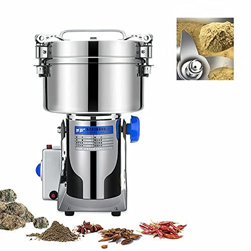 HANMIAO 2500g Molino de Cereales de Acero Inoxidable, 220V Máquina de Molienda...
