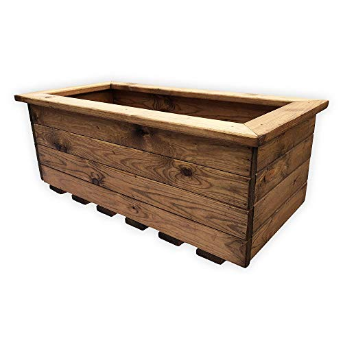 Simply Wood Trough Wooden Garden Planter – EXTRA LARGE – Sale!!!