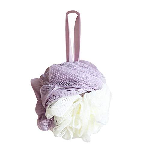 Ranoff Loofah Big Bath Shower Sponge Pouf Mesh Ball Exfoliating Premium Scrubber Clean Body (Purple)