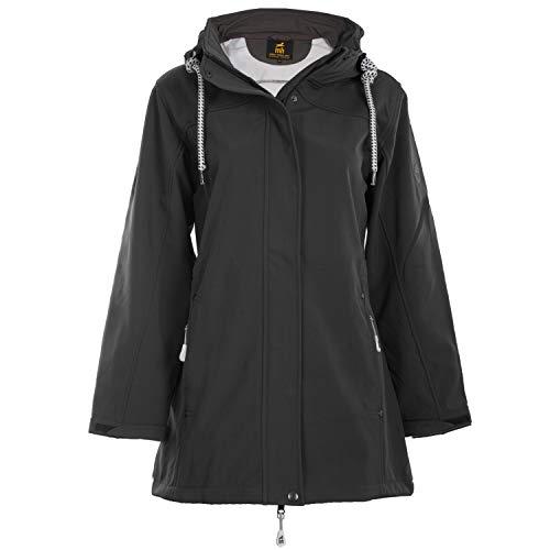 Michael Heinen - Cappotto da donna in softshell impermeabile, con cappuccio antracite. XL