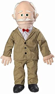 """30"""" Pops, Peach Grandfather, Professional Performance Puppet with Removable Legs, Full or Half Body"""