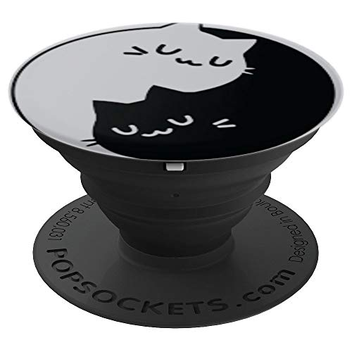 Yin Yang Yoga Zen Cats - Yoga Gift Cat - PopSockets Grip and Stand for Phones and Tablets