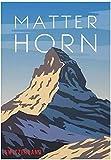 Refosian Retro Matterhorn Schweiz Kunstdruck Poster Home