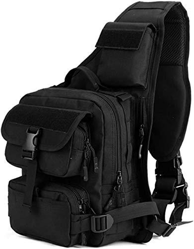 ACOMOO Tactical Military Sling Pack Pecho Mochila Molle Mochila Bolso de hombro Negro