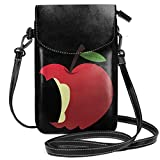Small Cell Phone Purse For Women Leather Apple Insides Card Slots Crossbody Bags