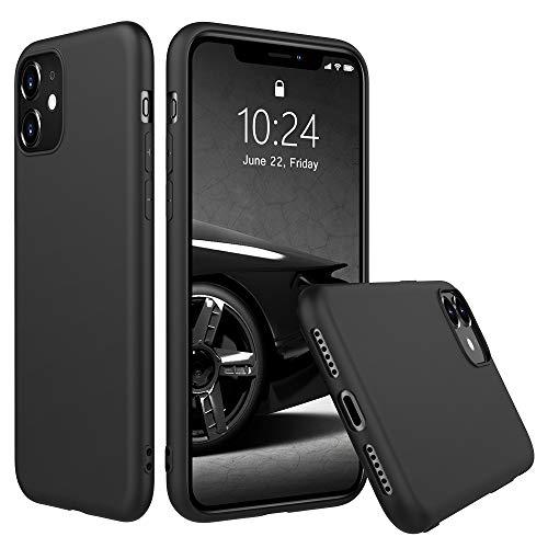 Peakally Funda iPhone 11, Carcasa Negro TPU Suave Funda para iPhone 11 Funda Flexible Ligero Fundas [Resistente a arañazos] [Ultrafina Delgado]-Negro