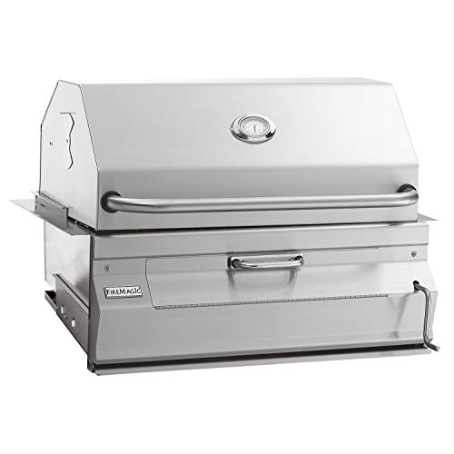 FireMagic Charcoal Legacy Built in Grill (Grill w 30 in. Smoker Hood)
