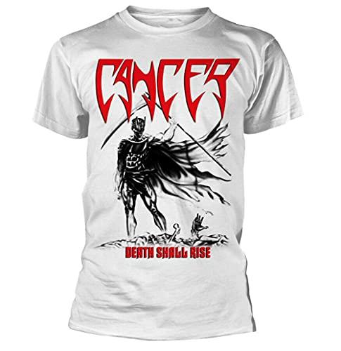 Cancer Death Shall Rise White Shirt S-XXL Death Metal Band T-Shirt New White XXL
