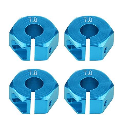 Dilwe Rad-Sechskant-Adapter, 12mm Universal-Rad-Sechskant-Adapter für HSP Sakura 1/10 RC Auto(7 mm / 0,28 Zoll- Blau)