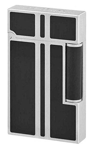 (デュポン) Dupont ライター LINE2 16738 純正黒漆マット パラディウム(ガス1本・フリント1シート特典付) 正規品