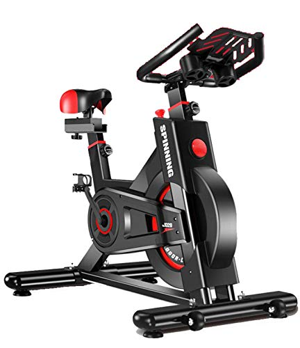 YDYGIndoor Cycling hometrainer Speedbike met low-noise riemaandrijving - incl.flooring mat Video Events & Multiplayer App