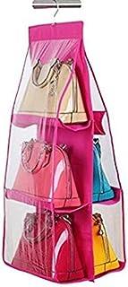 Inditradition Hanging Purse Handbags Organizer, 6 Shelves, Non-Woven