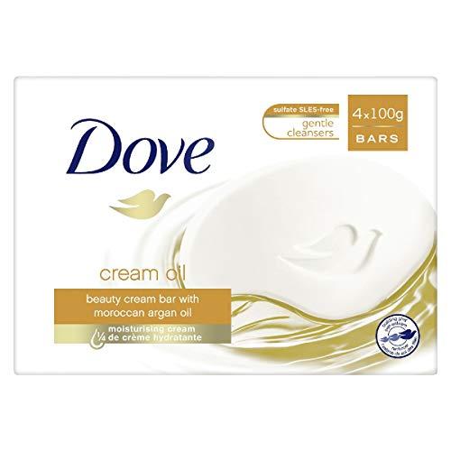 Dove jabón Pan de baño cuidado/aceite surgras 4x 100G