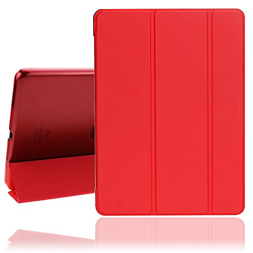 New iPad Case, 2017/2018 iPad 9.7 inch Cover Case with Auto Sleep/Wake Function, Ultra Slim Lightweight Smart iPad Case for Newest iPad Model A1822/A1823/A1893/A1954  (Red)