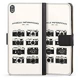 DeinDesign Etui Compatible avec Sony Xperia E5 Etui Folio Etui magnetique Caméra Vintage Rétro